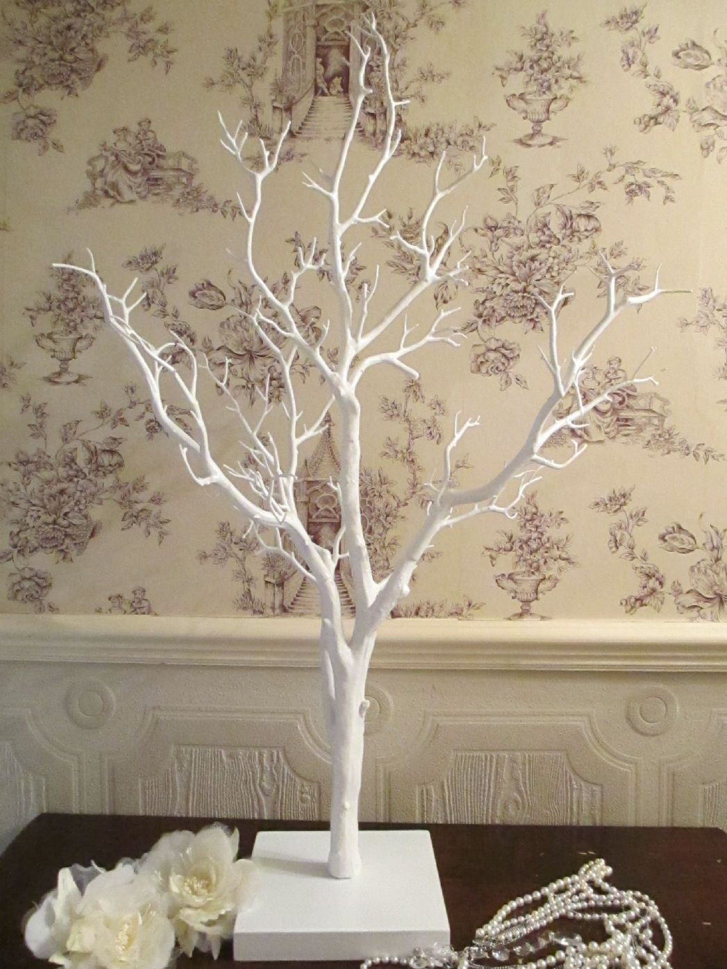 wedding wishing tree wish tree vintage manzanita white 110 cm high